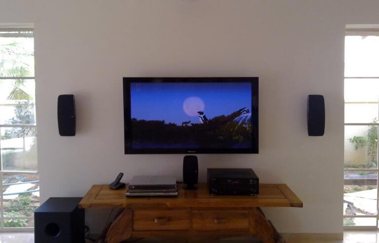Tv mounting and sound system installation
